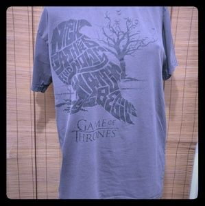 GAME OF THRONES GRAY SIZE LARGE T-SHIRT